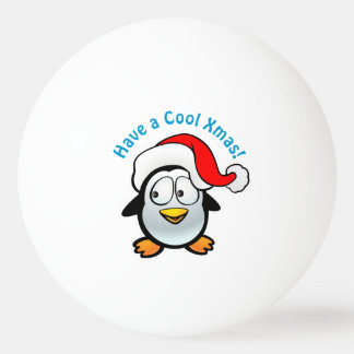 Cool Baby Penguin With Santa Hat Ping Pong Ball