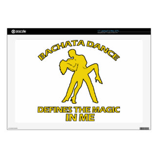 "cool Bachata dance designs 17"" Laptop Decals"