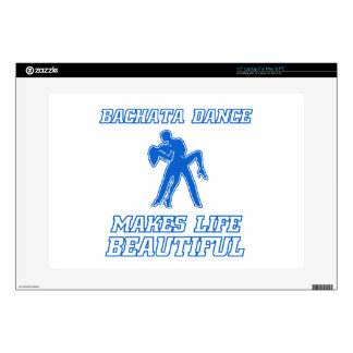 "Cool BACHATA dance designs Decal For 15"" Laptop"