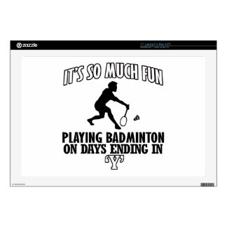 cool Badminton DESIGNS Decal For Laptop