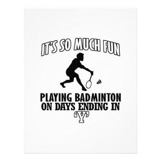 cool Badminton DESIGNS Letterhead