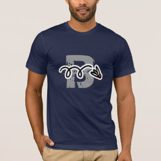 Cool badminton player t-shirt with flying shuttle