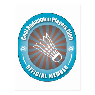 Cool Badminton Players Club Postcard
