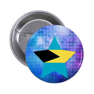 Cool Bahamas Flag Star 2 Inch Round Button