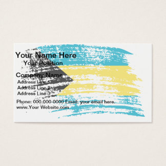 Cool Bahamian flag design Business Card