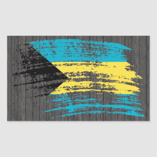 Cool Bahamian flag design Rectangle Sticker