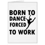 Cool ballet dance Designs Greeting Card