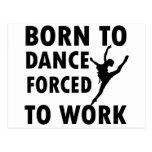 Cool ballet dance Designs Post Card