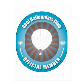 Cool Balloonists Club Postcard
