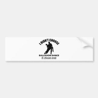Cool ballroom dance designs bumper sticker