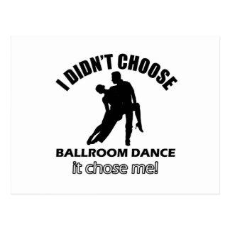 Cool ballroom dance designs postcard