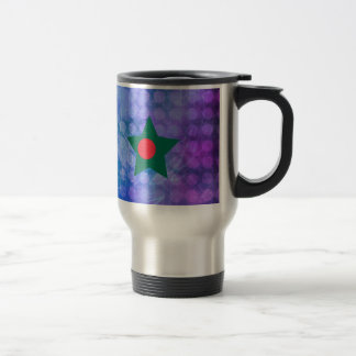 Cool Bangladesh Flag Star Travel Mug