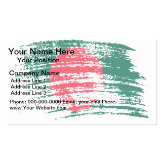 Cool Bangladeshi flag design Double-Sided Standard Business Cards (Pack Of 100)