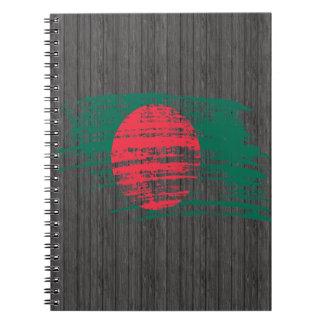 Cool Bangladeshi flag design Notebook