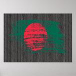 Cool Bangladeshi flag design Print