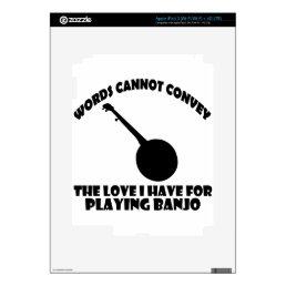cool banjo designs iPad 3 skins