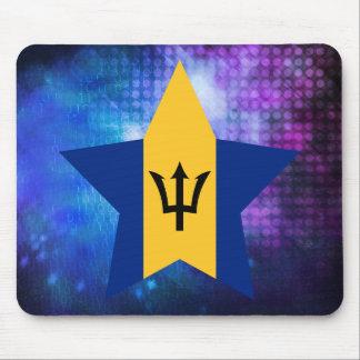 Cool Barbados Flag Star Mouse Pad