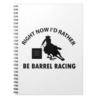 Cool BARREL RACING designs Note Books