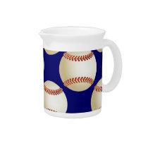 cool baseball ball drink pitcher