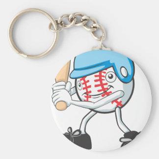 Cool Baseball Batter Cartoon Keychain