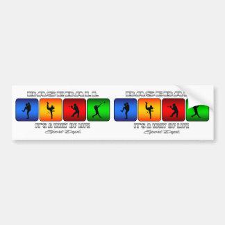 Cool Baseball Bumper Sticker