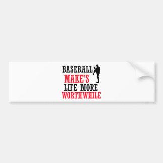 cool baseball design bumper sticker
