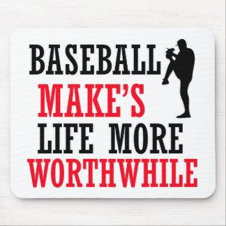 cool baseball design mouse pad