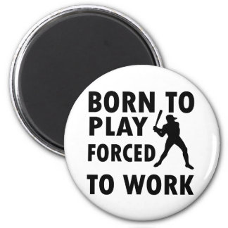 Cool Baseball Designs 2 Inch Round Magnet