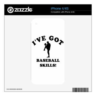 cool baseball designs decal for the iPhone 4S