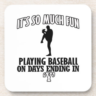 cool Baseball DESIGNS Drink Coaster