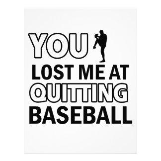 Cool Baseball designs Letterhead