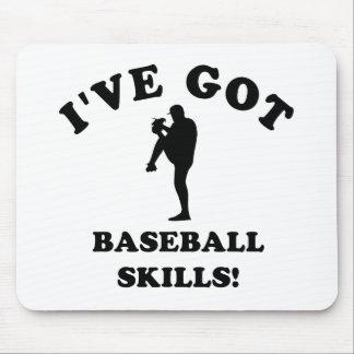 cool baseball designs mouse pad