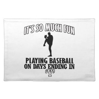 cool Baseball DESIGNS Placemat