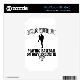 cool Baseball DESIGNS Skin For iPod Touch 4G