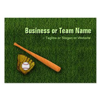 Cool Baseball Equipment  - Baseball Bat Gloves Large Business Cards (Pack Of 100)