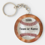 Cool Baseball Gifts for Players TEAM NAME and YEAR Basic Round Button Keychain