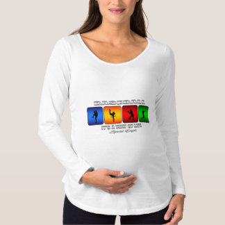 Cool Baseball Maternity T-Shirt