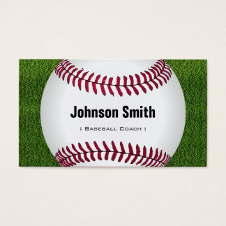 Cool Baseball Softball Coach Player Trainer Staff Business Card