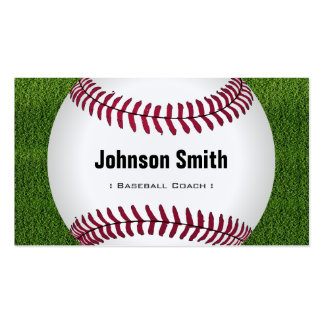 Cool Baseball Softball Coach Player Trainer Staff Double-Sided Standard Business Cards (Pack Of 100)