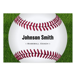 Cool Baseball Softball Coach Player Trainer Staff Large Business Cards (Pack Of 100)