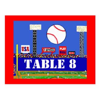Cool Baseball Sport Bar Mitzvah Table Number Card