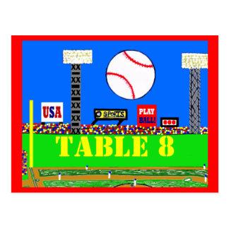Cool Baseball Sport Bar Mitzvah Table Number Card Postcards