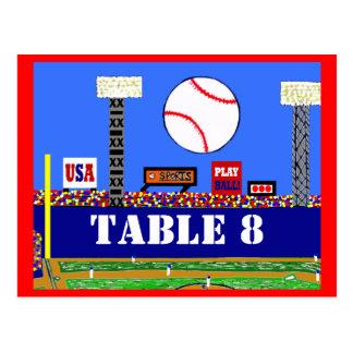 Cool Baseball Sport Bar Mitzvah Table Number Card Postcard