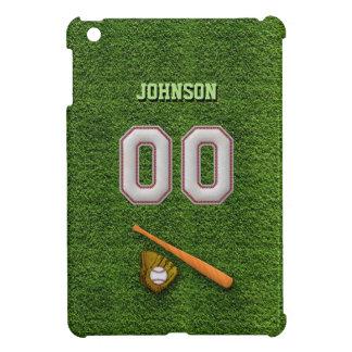 Cool Baseball Stitches - Custom Number 00 and Name iPad Mini Covers