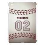 Cool Baseball Stitches - Custom Number 02 and Name Case For The iPad Mini