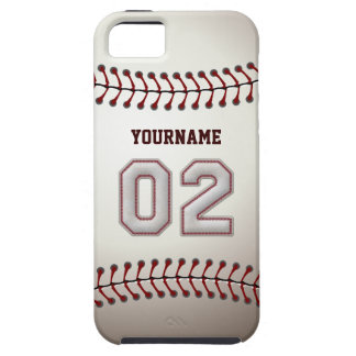 Cool Baseball Stitches - Custom Number 02 and Name iPhone SE/5/5s Case
