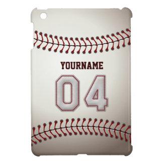 Cool Baseball Stitches - Custom Number 04 and Name iPad Mini Cover