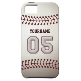 Cool Baseball Stitches - Custom Number 05 and Name iPhone SE/5/5s Case