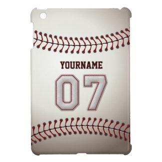Cool Baseball Stitches - Custom Number 07 and Name iPad Mini Covers
