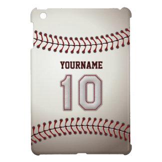 Cool Baseball Stitches - Custom Number 10 and Name iPad Mini Cover